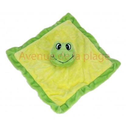 Doudou pour enfant grenouille