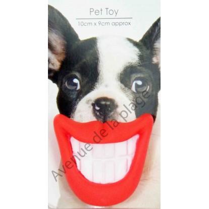 Jouet pour chien sourire
