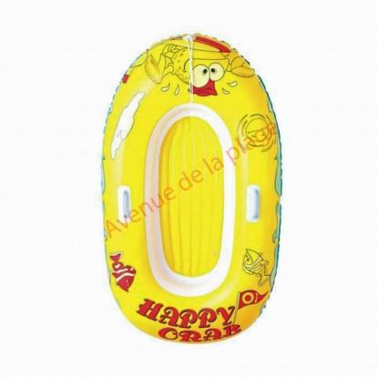 Bateau pneumatique jaune pour enfant 137 cm