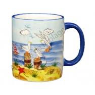 Mug mouettes au bord de mer
