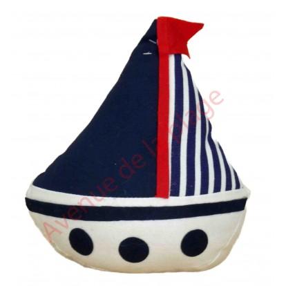 Cale porte bateau bleu,blanc et rouge, modèle A.