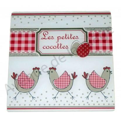 Dessous de plat Poule - Les Petites Cocottes