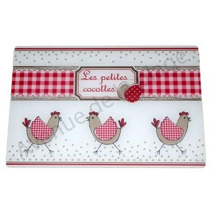 Planche à découper Poule - Les Petites Cocottes