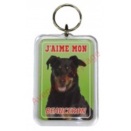 Porte clé J'aime mon chien - Beauceron