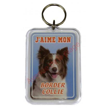 Porte clé J'aime mon chien - Border Collie