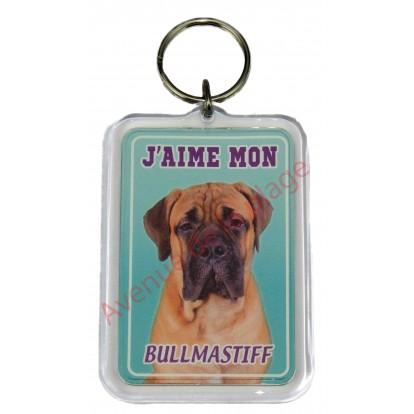 Porte clé J'aime mon chien - Bullmastiff