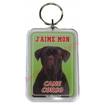Porte clé J'aime mon chien - Cane Corso