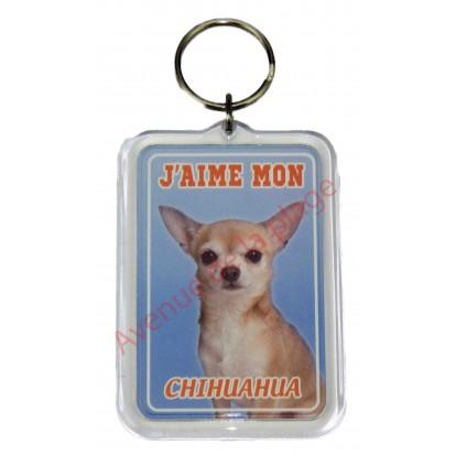 Porte clé J'aime mon chien - Chihuahua