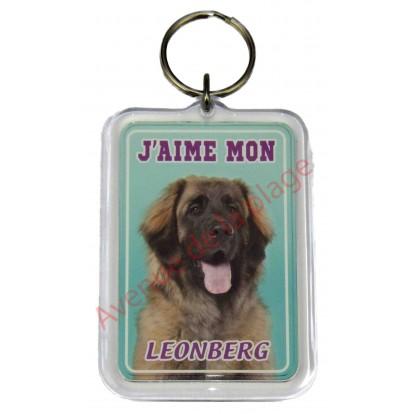 Porte clé J'aime mon chien - Leonberg