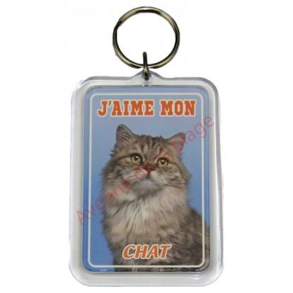 Porte clé J'aime mon chat Maine Coon
