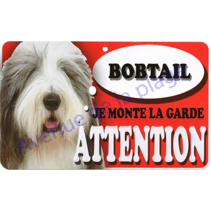 Plaque Attention Je monte la garde - Bobtail