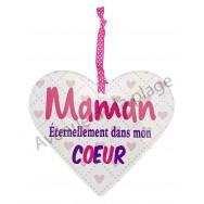 """Coeur à suspendre """"Maman"""""""