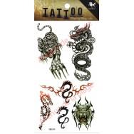 Tatouage temporaire Tigre et Dragon