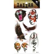 Tatouage temporaire Aigle - Tigre - Lion