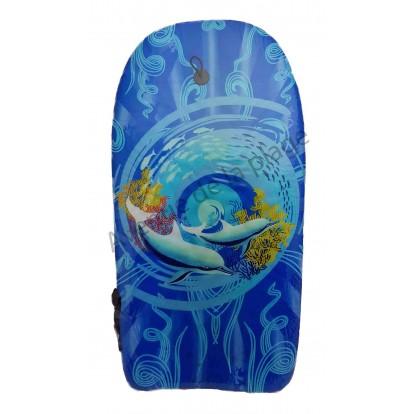 Bodyboard dauphins dans tourbillon