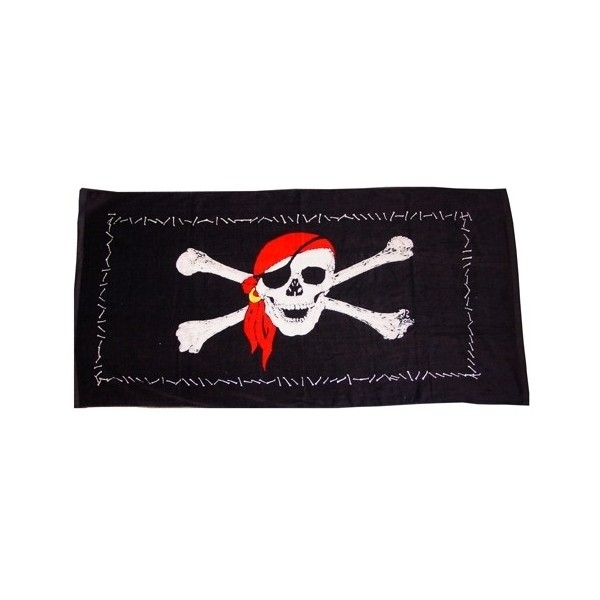 serviette de plage pirate achat vente drap de bain pas. Black Bedroom Furniture Sets. Home Design Ideas