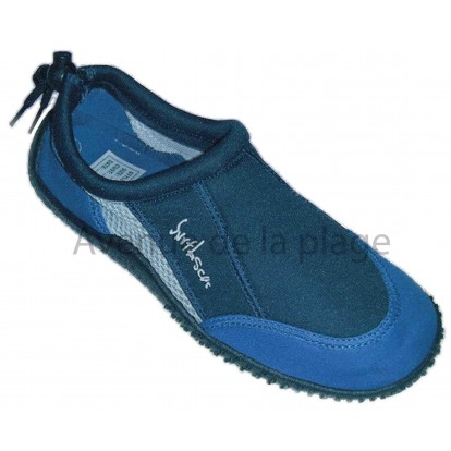 Chaussures de plage bleues en néoprène pour enfant 28 - 34.