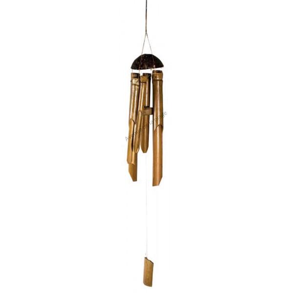 Carillon bambou et coco pas cher d coration de jardin for Bordure de jardin en bambou pas cher