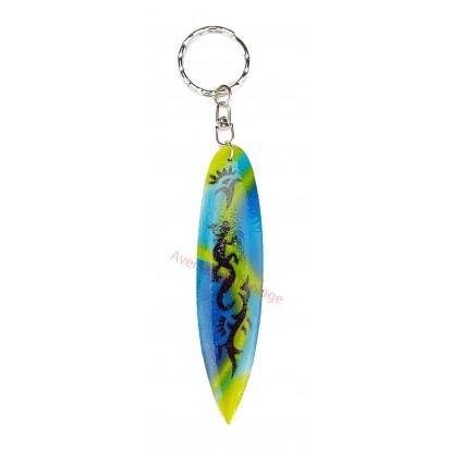 Porte clés planche de surf lézard