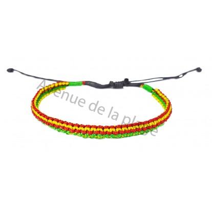 Bracelet brésilien rasta modèle A.