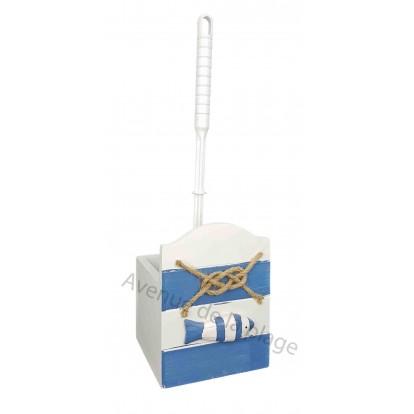 Brosse WC poisson et noeud marin