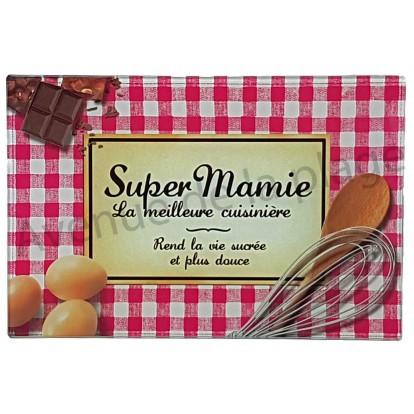Planche à découper humoristique - Super Mamie