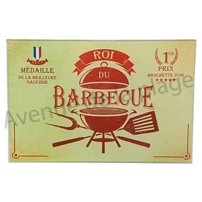 Planche à découper humoristique Roi du barbecue