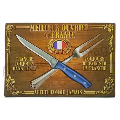 Planche à découper humoristique Meilleur ouvrier de France