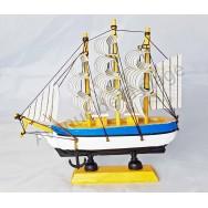 Maquette voilier Trois mâts 16 cm, décoration marine