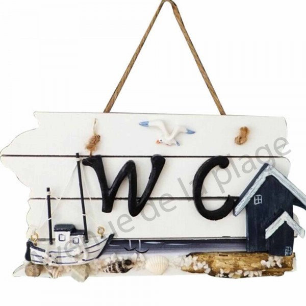 Plaque de porte wc cabines de plage deco marine pas cher - Plaque de porte design ...