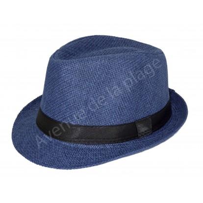 Chapeau style borsalino bleu marine pour fille et garçon.
