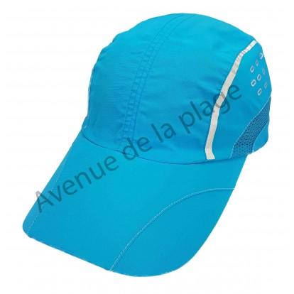 Casquette de sport bleue en polyester pour adulte