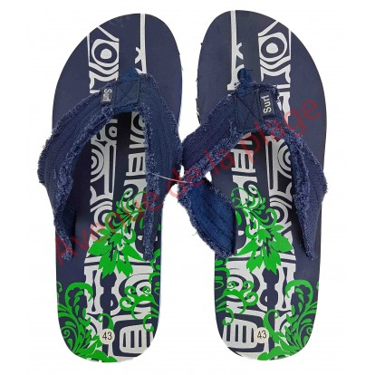 Tongs pour homme tribal surf 41 - 46 bleue.