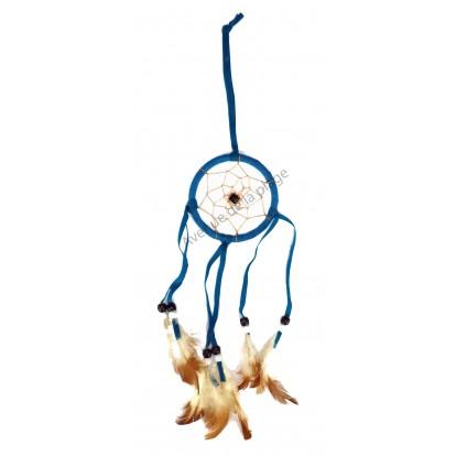 Deamcatcher - Piège à rêve Amérindien 7 cm bleu.