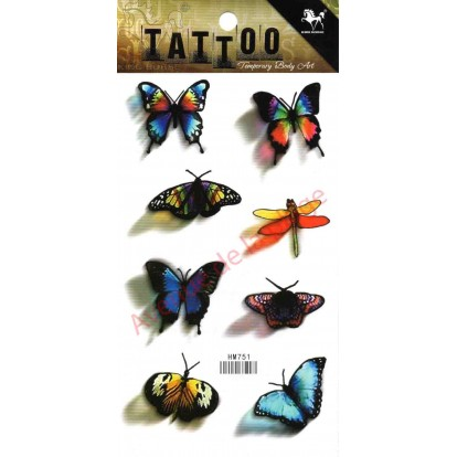 Tattoo décalcomanie Papillon