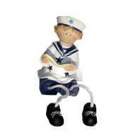 Statuette enfant en habits marin 11 cm : le garçon avec un livre