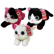 Peluche chat yeux brillants
