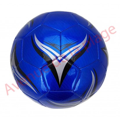 Ballon de football pro brillant bleu.
