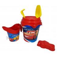Seau de plage Cars Piston Cup avec accessoires