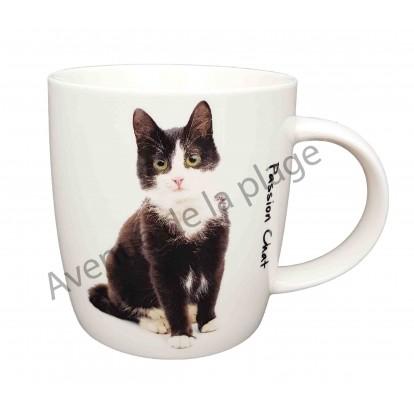 mug chat noir et blanc pas cher achat vente avenue de la plage. Black Bedroom Furniture Sets. Home Design Ideas