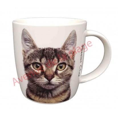 Mug tête de chat tigré