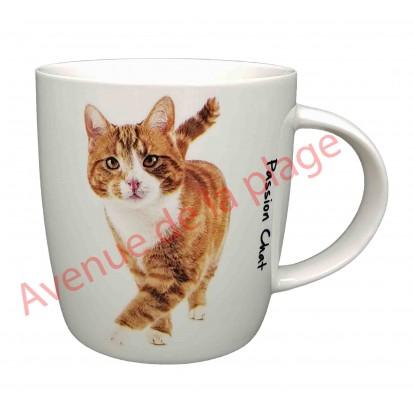 Mug chat roux et blanc debout