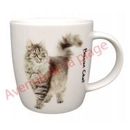 Mug chat gris debout