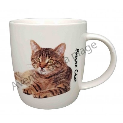 Mug chat tigré couché