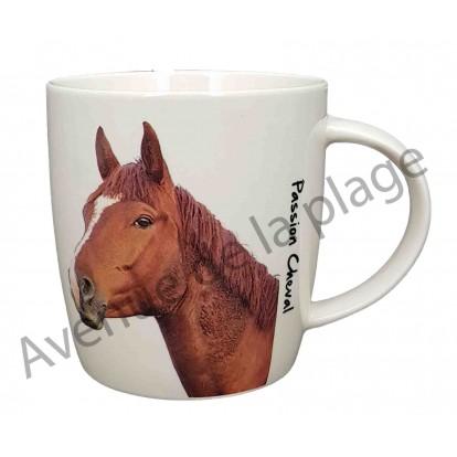 Mug cheval marron