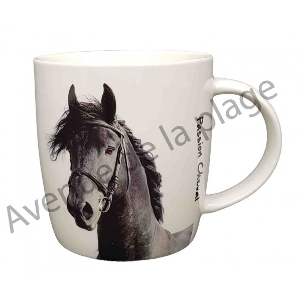 mug cheval noir pas cher tasse caf chevaux discount. Black Bedroom Furniture Sets. Home Design Ideas