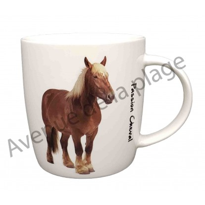 Mug cheval de trait