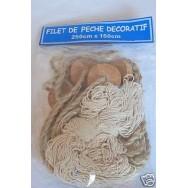 Filet de pêche corde 150 x 250 cm + flotteurs