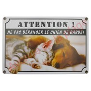 "Pancarte ""Attention ! Ne pas déranger le chien de garde !"""