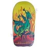 Bodyboard pour enfant Dragon vert et flammes